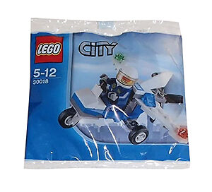 LEGO 30018 CITY POLICE MICROLIGHT + MINIFIGURE New/ Sealed
