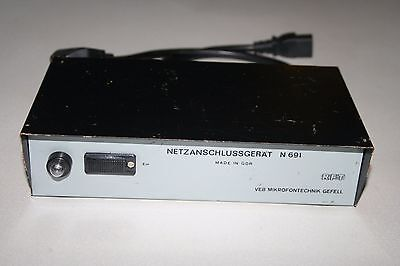 Gefell RFT Neumann n691 12V power supply for mv691 and mv692 microphones