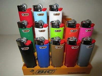 Set of 3 - Full Size Solid BIC Disposable Lighters - Assorted Color Sets