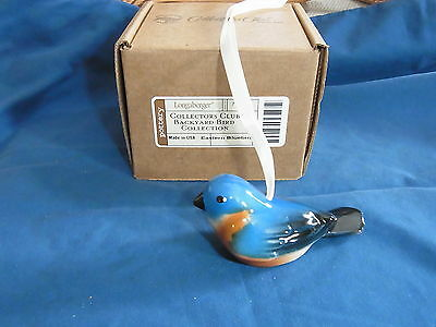 Longaberger CC Collectors Club Backyard Bird BLUEBIRD  Ornament   USA MINT