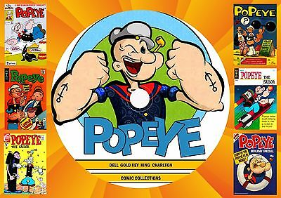 Popeye Comics (169 Issues) On Printed Dvd Rom
