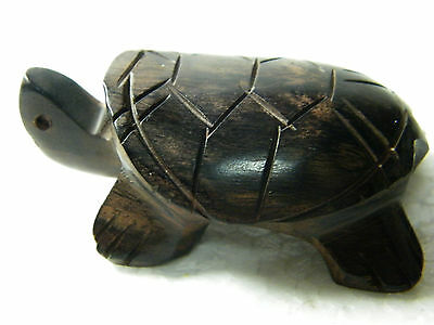 """2.5"""" Primitive Hand Carved Ma-Kha Wooden Turtle Home Decoration Collectible"""