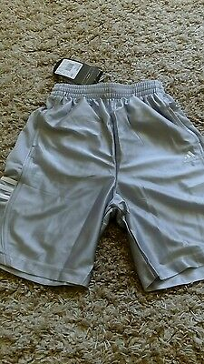 Adidas Boys Mens Dazzle Basketball Sports Shorts Size 26 In Ice Grey Silver New