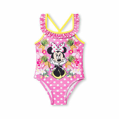 NEW Disney Toddler Girls' Minnie Mouse One-Piece Swimsuit  Size 4T & 5T