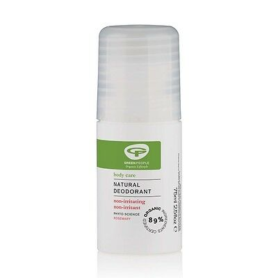 GREEN PEOPLE NATURAL ROSEMARY DEODORANT 75ml - FOR ALL SKIN TYPES - FREE UK POST