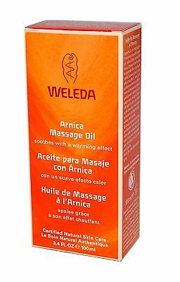 WELEDA ARNICA MASSAGE OIL 100ml + Soothes with a warming effect -FREE UK POSTAGE