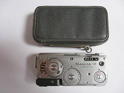 Mamiya Super 16 Subminiature Spy Camera with Leather Case