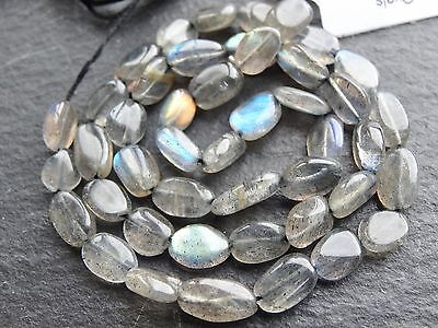"""*CLEARANCE*  2 x LABRADORITE OVALS, approx 5x7mm 13"""" strand, 35 beads"""
