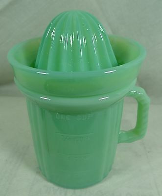 Measuring Cup With Reamer Jadeite Jadite Green Milk Glass