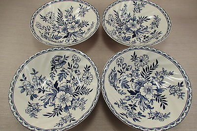 Johnson Brothers China DEVON COTTAGE Cereal Bowls - Set of Four - New