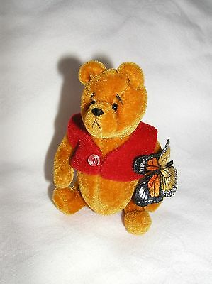 Winnie the Pooh Miniature Bear Butterfly Ltd Ed Brand New boxed with certificate