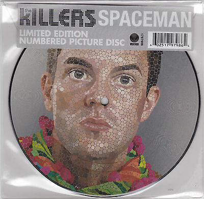 """The Killers - Spaceman - 7"""" EU Picture Vinyl 45 - New Numbered Limited Ed"""