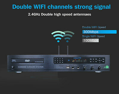 Karaoke Android KHP-8832 with 5TB 52383 Vietnamese and English songs DVD Player.