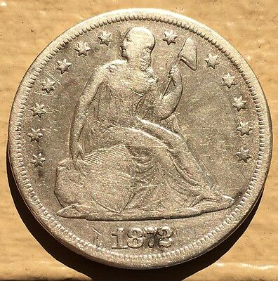1872 $1 Liberty Seated Dollar. RARE Early Silver Dollar