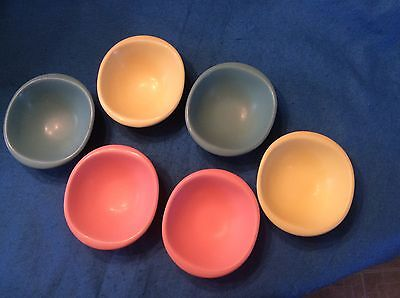 "Boonton Melmac Set Of Six Cereal Bowls 6 3/8"" Excellent Condition"