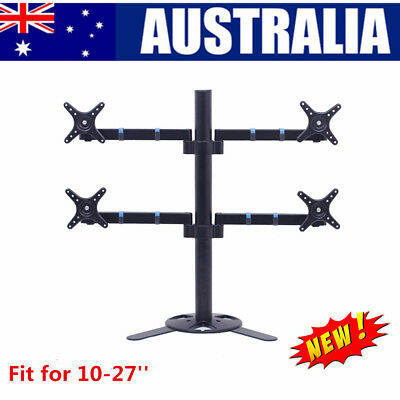 "10""-27"" 4 Arm Monitor VESA Display Screen Stand Adjustable Desktop Mount Bracket"