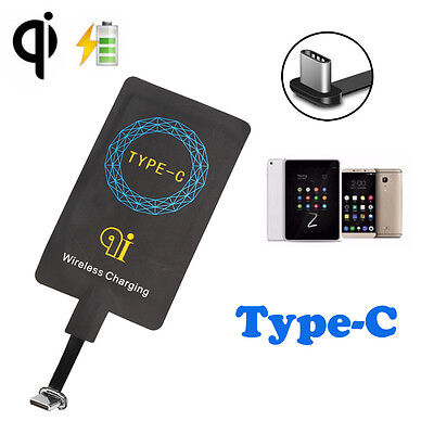 Universal USB 3.1 Type-C Sticker QI Wireless Charger Receiver For Huawei P9