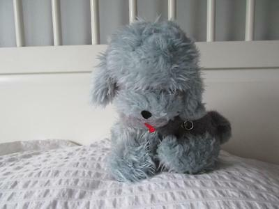 Vintage 1960's GANZ Gray Poodle Stuffed plush doll Wind Up musical Dog puppy