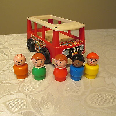 Vintage Fisher Price Little People School Bus #141 Lot *