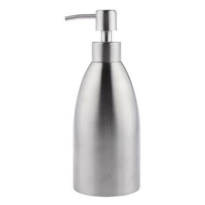 Bathroom Stainless Steel Soap Shampoo Lotion Shower Liquid Dispenser w/ Pump