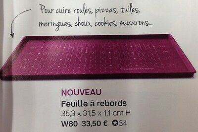 FEUILLE A REBORD SILICONE  ET  LIVRET RECETTES  Tupperware neuf