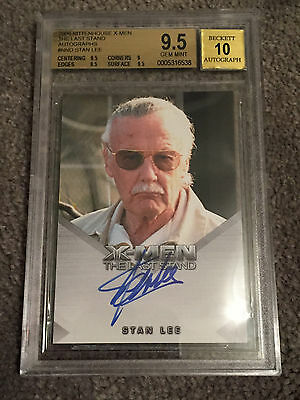 2006 Rittenhouse X-MEN The Last Stand STAN LEE Signed AUTOGRAPH Card BGS 10 AUTO