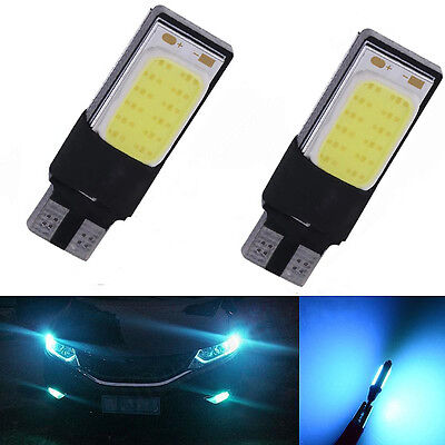 2pcs Ice Blue 12V LED T10 W5W 194 168 COB Canbus Side Lamp Wedge Car Light Bulbs