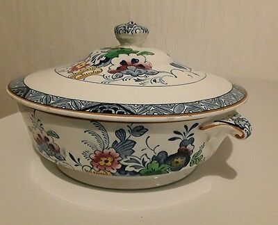 Antique Booths silicon china 'Netherlands' Pattern Lidded Tureen