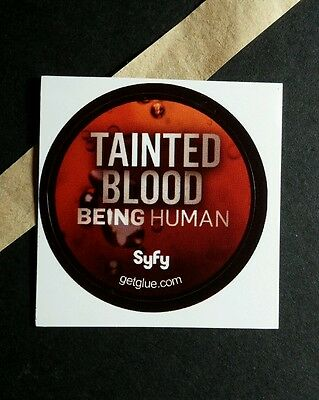 "Being Human Tainted Blood Red Splatter Tv Photo Sm 1.5""  Get Glue Sticker"