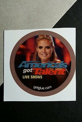 "America's Got Talent Live Shows Heidi Klum Photo Tv Small 1.5"" Get Glue Sticker"