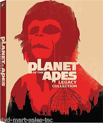 Planet of the Apes - Legacy Box Set (DVD, 2006, 5-Disc Set, Legacy Edition)  New