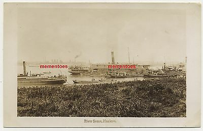 China Hankow River Scene Chinese c1928 RP PC HMS Suffolk