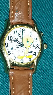 Vintage 1999 Armitron Warner Brothers Looney Tunes Tweety Bird Musical Watch