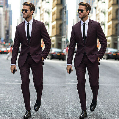 New Men's Wedding Suits Groom Tuxedos Slim Fit Best Man Business Suit Prom Suits
