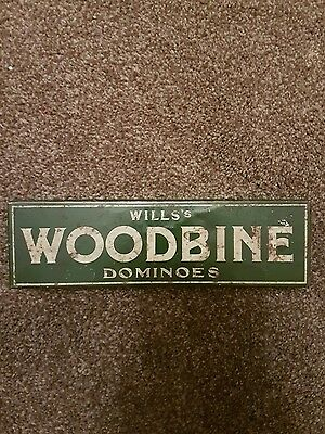 RARE VINTAGE 20S WILLS WOODBINE DOMINOS IN TIN.COMPLETE SET Open 2 Offers