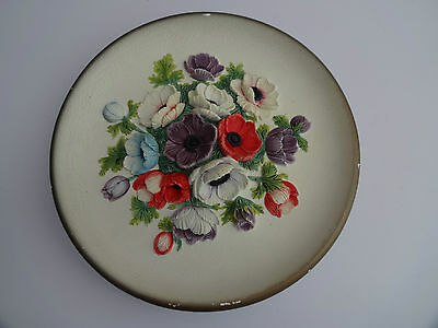 Bossons 3D Wall Plate/plaque Anemones 11.5 Inches