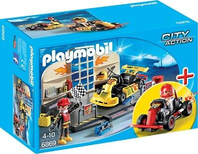 Playmobil® City Action StarterSet Gokart-Werkstatt 6869