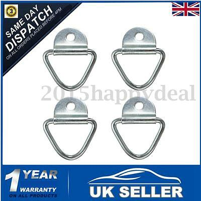 4x Tie Down Lashing Ring Cleat Rope Zinc Plated Truck Trailer Van Boat Horsebox