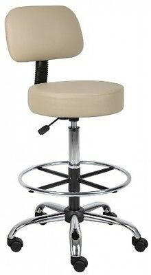 Boss Office Products B16245-BG Be Well Medical Spa Drafting Sool With Back In