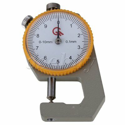0-10mm Compact Pocket Round Dial Tip Type Thickness Gauge Gage Measurement Tool