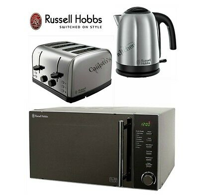 Russell Hobbs Microwave Kettle and Toaster Set Jug Kettle & 4 Slot Toaster New