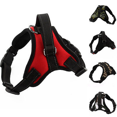 Adjustable Heavy Duty Dog Pet Puppy Harness Padded Extra Strap Vest