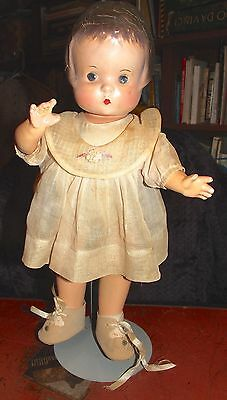 1929 Original 15' Effanbee Patsy doll with 3 antique dresses, dressing trunk WOW