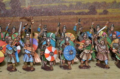 1/56 28mm DPS Painted Ancient Dark Age Frank Or Saxon Noble Warriors GH203