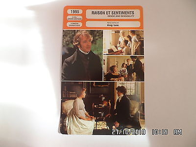 CARTE FICHE CINEMA 1995 RAISON ET SENTIMENTS Emma Thompson Kate Winslet G.Jones