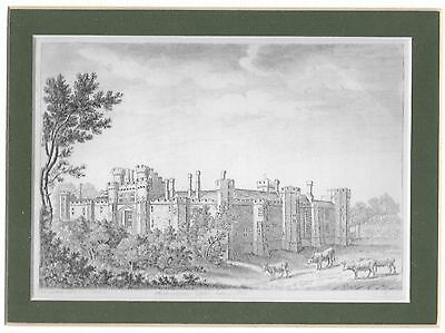 18th Century Engraving of Herstmonceux Castle, 1785
