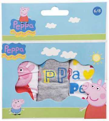 Girls Peppa Pig Briefs Knickers Pants  Age 2/3, 4/5, And 6/8 - See Description