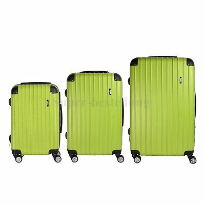 Green Baggage Travel Trolley TSA Luggage Trunk Case Suitcase Bag Tag 20 24 28""