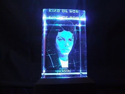 Michael Jackson Laser Block with Colour Changing Light Box.