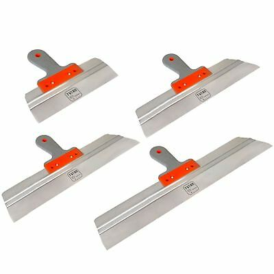 Stainless Taping, Filling Knife. Drywall Plastering Rendering Spatula, SET 4pcs